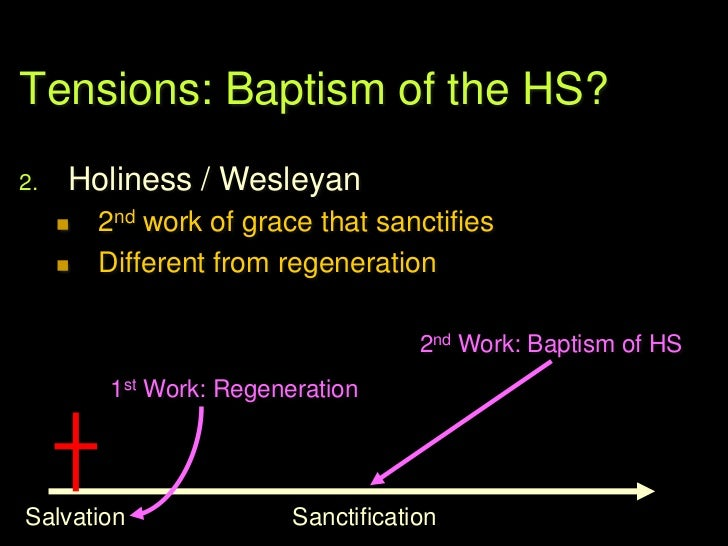 Tensions: Baptism of the HS?3.   Keswick / CMA (CAMACOP)        Subsequent experience of empowering for         service  ...