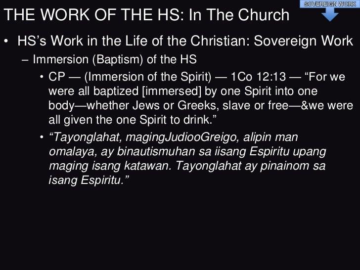 4. Ano bangpakikipagrelasyon ng …       Baptism of the HS,        Filling of the HS,     Coming upon of the HS,      Pouri...