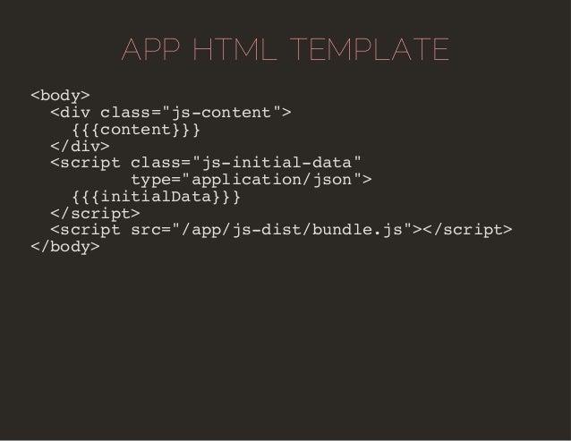 """APP HTML TEMPLATE  <body>  <div class=""""js-content"""">  {{{content}}}  </div>  <script class=""""js-initial-data""""  type=""""applica..."""