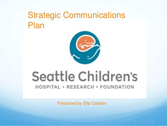 Strategic CommunicationsPlan       Presented by Ella Czeisler                                    DUE DATE