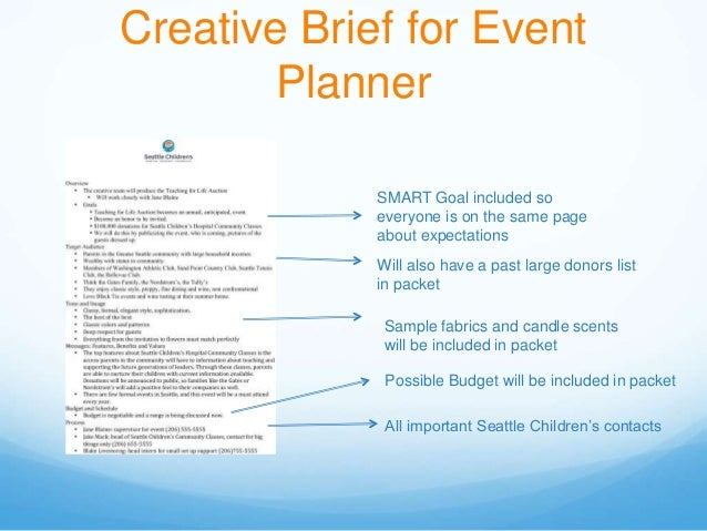 event brief template - mock communications profile of seattle children 39 s hospital