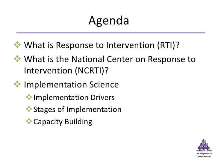The National Center on Response to Intervention and Implementation Science: Building Capacity for Equity and Excellence for All Students Slide 2
