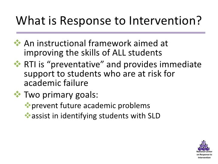 The National Center on Response to Intervention and Implementation Science: Building Capacity for Equity and Excellence for All Students Slide 3