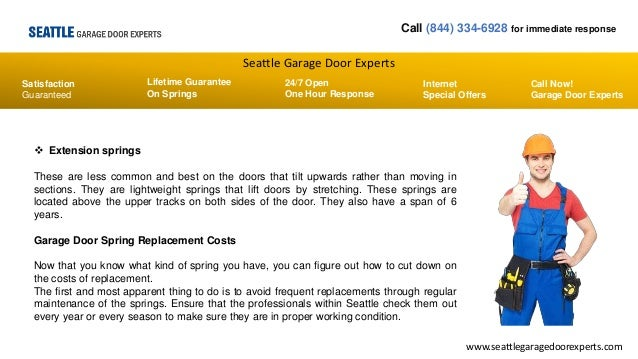 How To Minimize Garage Door Spring Replacement Costs Seattle Garage