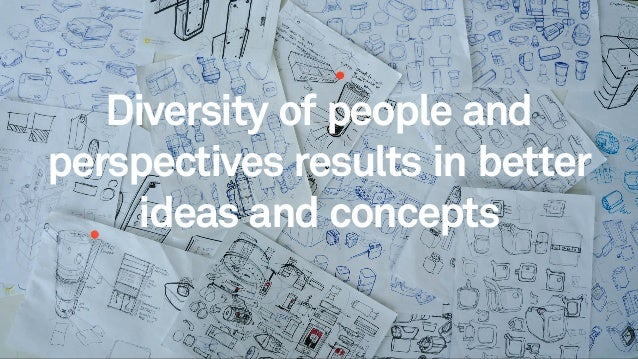2525 Diversity of people and perspectives results in better ideas and concepts