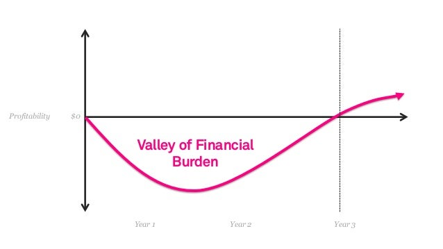 Year 1 Year 2 Year 3 Profitability $0 Valley of Financial Burden