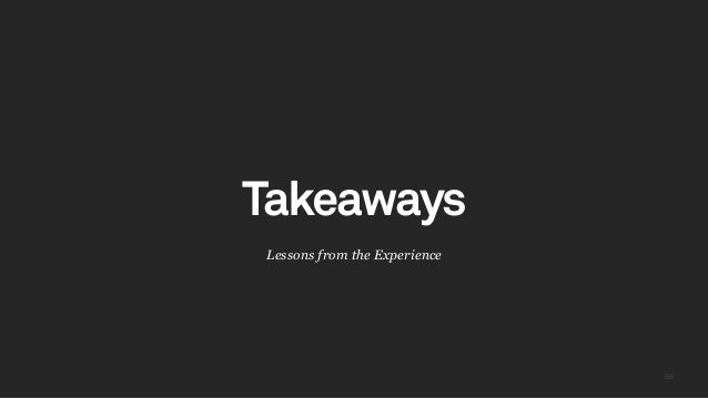 5959 Lessons from the Experience Takeaways