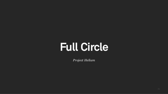 8585 Project Helium Full Circle