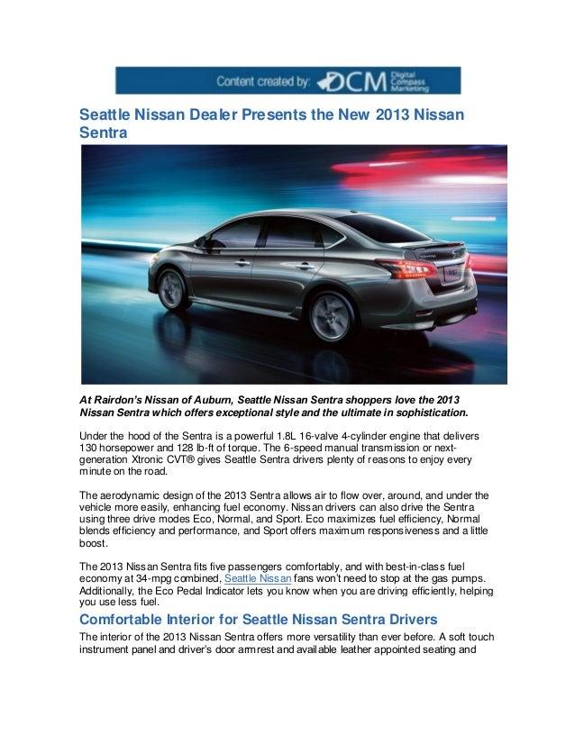 Nissan Dealership Seattle >> Seattle Nissan Dealer Presents The New 2013 Nissan Sentra