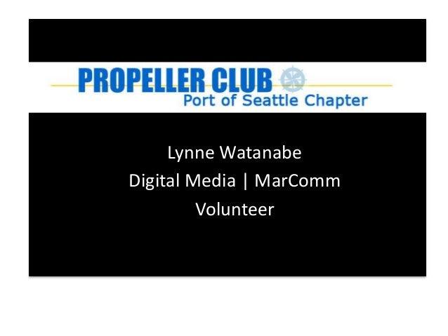 Lynne Watanabe Digital Media | MarComm Volunteer