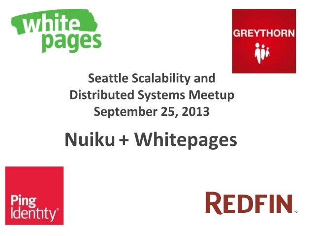 ● ● ● ● http://www.meetup.com/Seattle-Hadoop-HBase-NoSQL-Meetup/events/120290972/