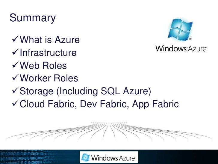 Demo<br />Building Our First Cloud Application<br />With Microsoft Windows Azure<br />This demo uses the following technol...