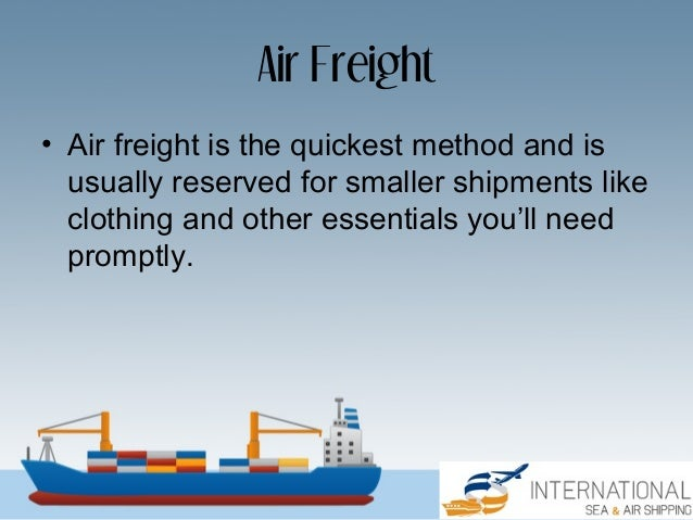 Ocean Freight vs  Air Freight: What's the Difference?
