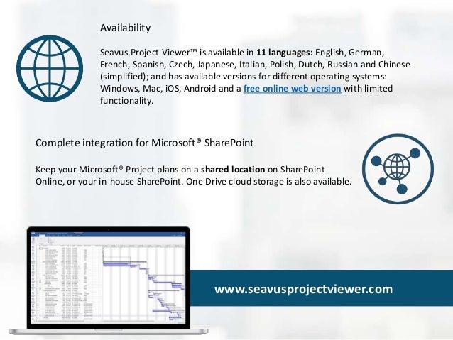 Seavus Project Viewer 16 - Viewer for Mpp Plans