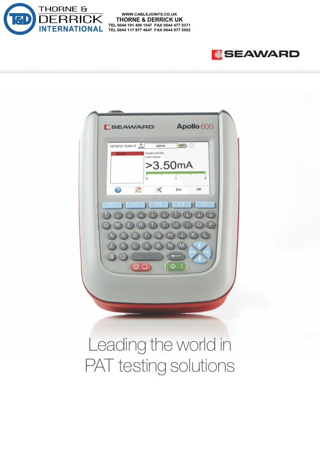 Seaward pat testing solutions portable appliance testers yadclub Images