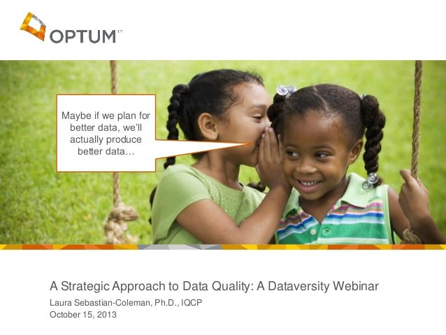 Maybe if we plan for better data, we'll actually produce better data…  A Strategic Approach to Data Quality: A Dataversity...