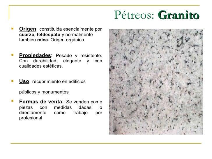 Sebastian orellana - Propiedades del granito ...