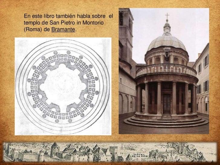 Dibujos del ordentoscano con y sinpedestal: la sombraindica donde serebaja la columna.Columna aislada(A) y 3 modos deunión...
