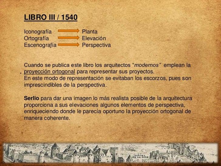 LIBRO III / 1540Iconografía            PlantaOrtografía             ElevaciónEscenografía           PerspectivaCuando se p...