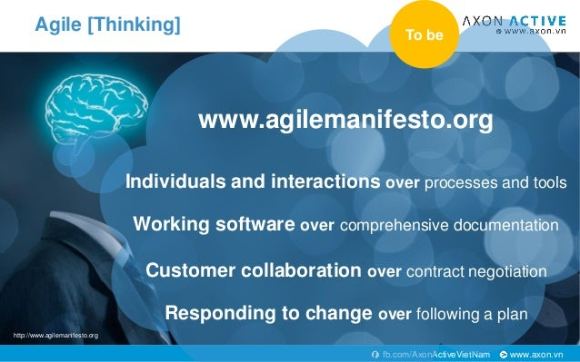 www.axon.vnfb.com/AxonActiveVietNam Agile [Thinking] www.agilemanifesto.org Individuals and interactions over processes an...
