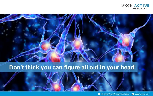 www.axon.vnfb.com/AxonActiveVietNam Don't think you can figure all out in your head!