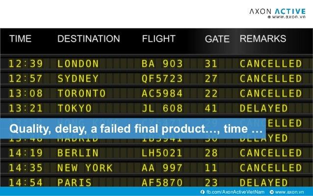 www.axon.vnfb.com/AxonActiveVietNam Quality, delay, a failed final product…, time …