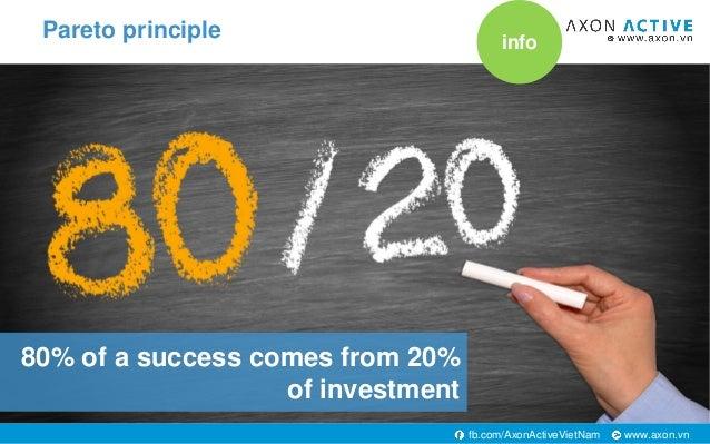 www.axon.vnfb.com/AxonActiveVietNam 80% of a success comes from 20% of investment Pareto principle info