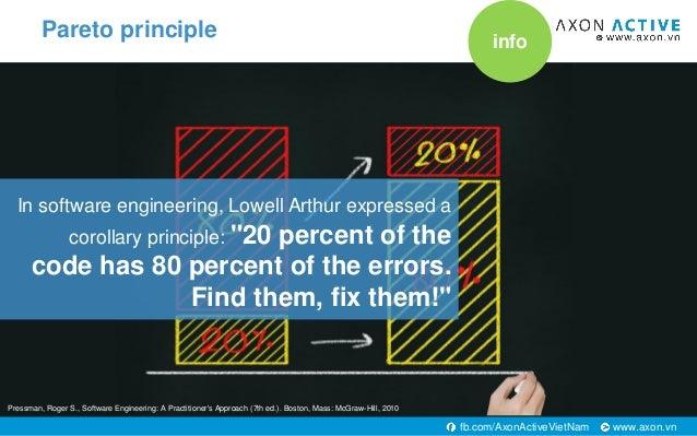 "www.axon.vnfb.com/AxonActiveVietNam In software engineering, Lowell Arthur expressed a corollary principle: ""20 percent of..."