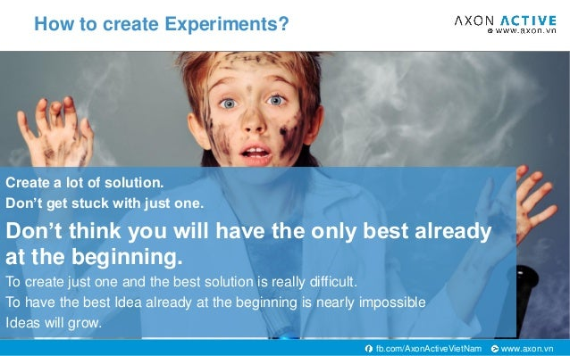 www.axon.vnfb.com/AxonActiveVietNam Create a lot of solution. Don't get stuck with just one. Don't think you will have the...