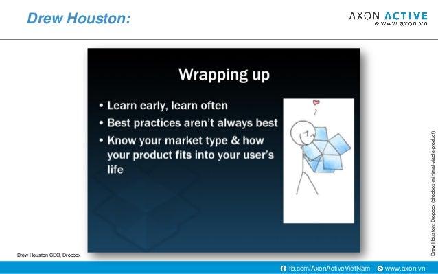 www.axon.vnfb.com/AxonActiveVietNam Drew Houston: DrewHouston:Dropbox(dropbox-minimal-viable-product) Drew Houston CEO, Dr...