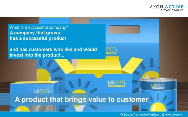 www.axon.vnfb.com/AxonActiveVietNam A product that brings value to customer What is a successful company? A company that g...