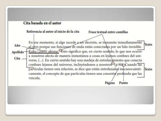  2.2 CITA DE PARAFRASEO O NO LITERAL En la cita de parafraseo se utilizan las ideas deun autor, pero no en forma textual...