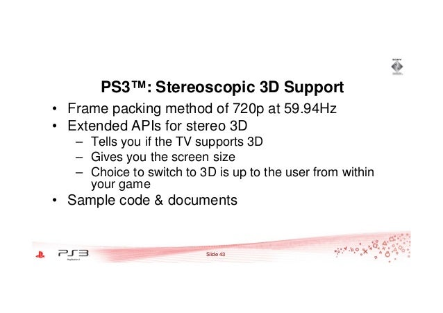 Optimization for Making Stereoscopic 3D Games on PlayStation