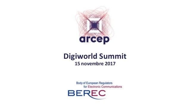 Digiworld Summit 15 novembre 2017