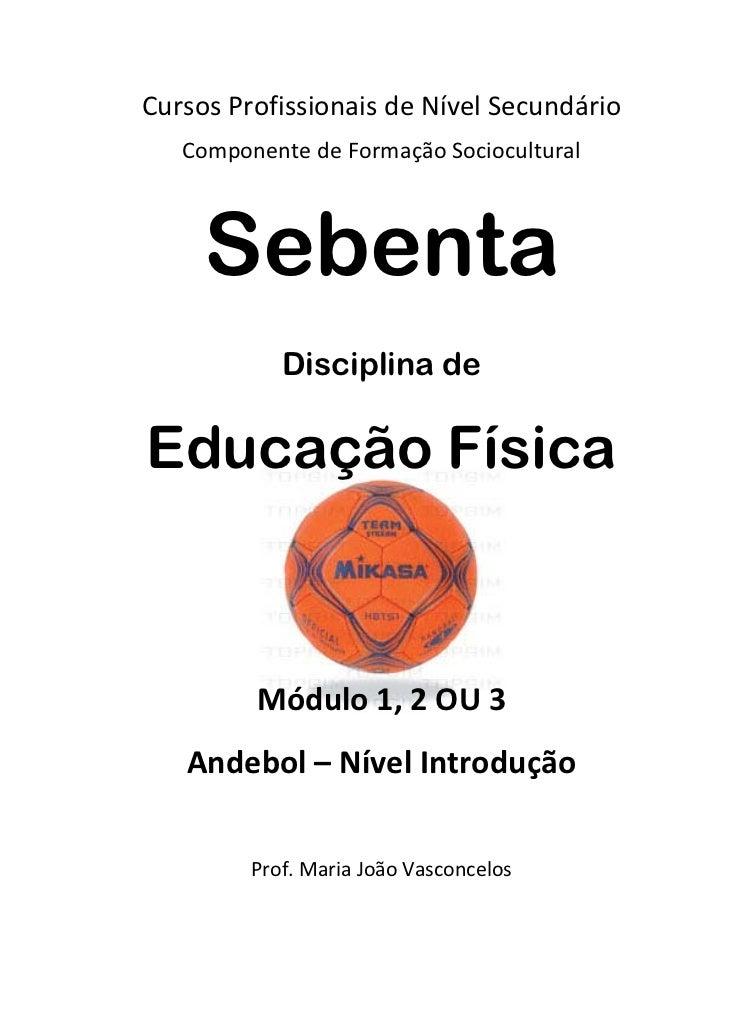 CursosProfissionaisdeNívelSecundário   ComponentedeFormaçãoSociocultural     Sebenta            Disciplina deEduc...