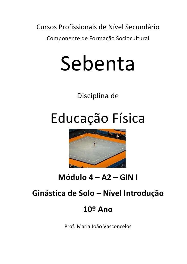 Cursos Profissionais de Nível Secundário    Componente de Formação Sociocultural        Sebenta               Disciplina d...