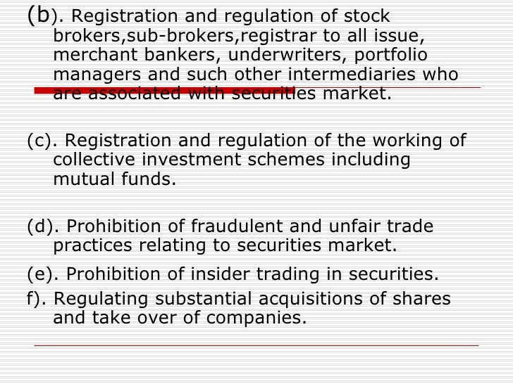 sebi regulations and guidelines to investors Amended guidelines by sebi for the investors, 2016 our biggest question lies on the term 'sebi' that is the securities and the exchange board of india.