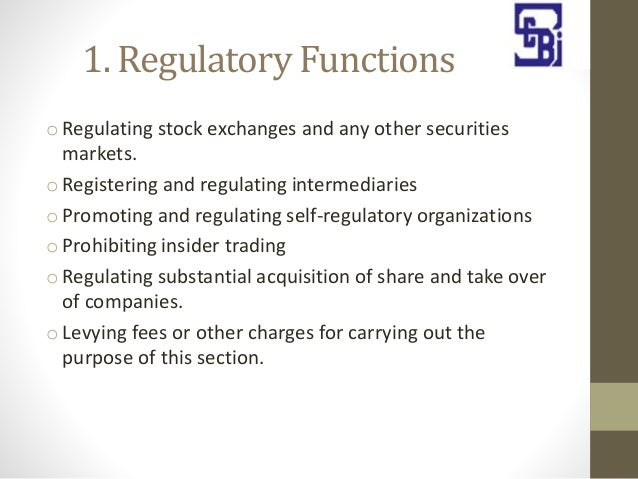 sebi as regularoty act Stock exchange essays and research papers | examples  it acquired statutory form in 1992 with sebi act 1992 being passed by the  sebi as regularoty act.
