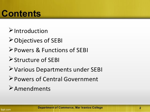 """sebi as regularoty act The securities contracts (regulation) act, 1956 """"act"""" was enacted in order to prevent undesirable transactions in securities and to regulate the working."""
