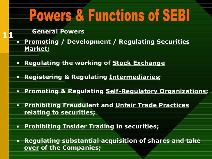 Various Functions of SEBI