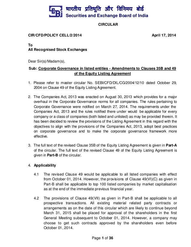 Listing Agreement Sebi Pdf Gallery Agreement Letter Format