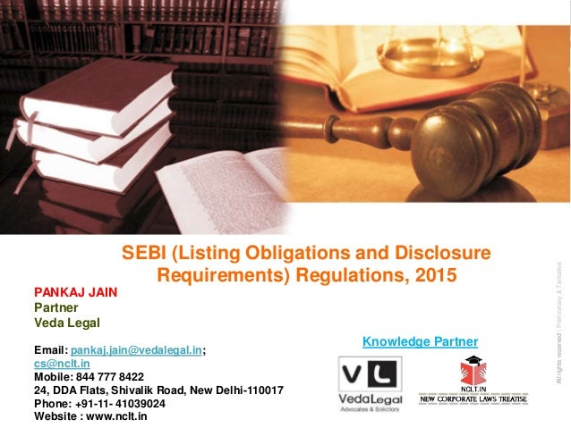 AllrightsreservedAllrightsreserved|Preliminary&Tentative Companies Act 2013 SEBI (Listing Obligations and Disclosure Requi...