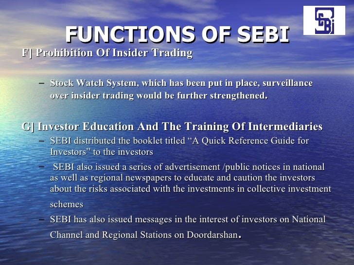SEBI : Functions, Powers and Objectives