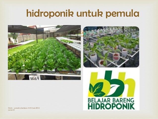  hidroponik untuk pemula Dody - penulis dadakan @ 01 Juni 2014 revisi 01