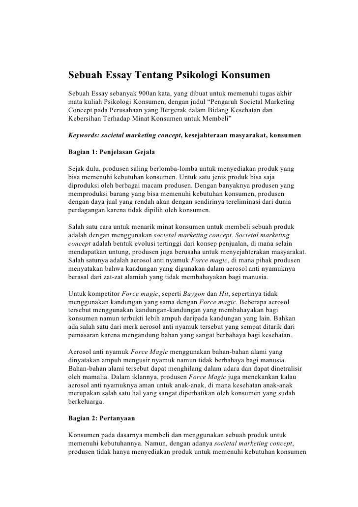 contoh essay mendaftar beasiswa
