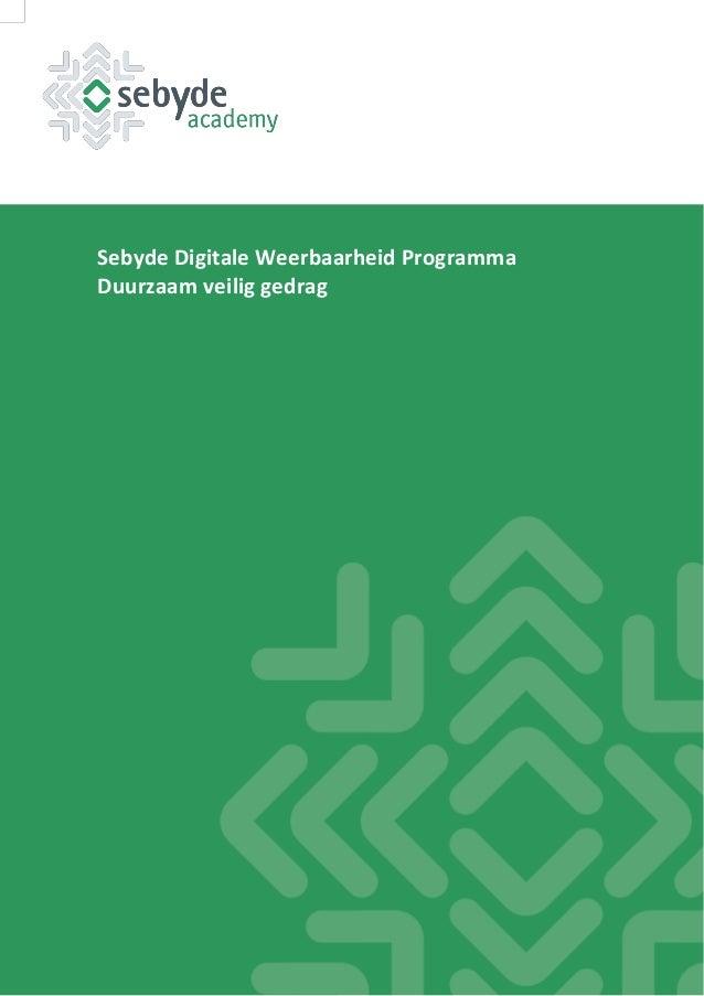 Sebyde Digitale Weerbaarheid Programma Duurzaam veilig gedrag