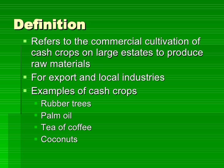 Sec 2 NA - Plantation Agriculture
