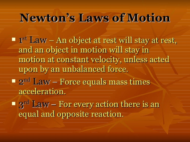 how to remember newtons 3 laws of motion