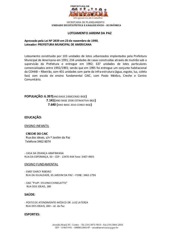 SECRETARIA DE PLANEJAMENTO                     UNIDADE DE ESTATÍSTICA E ANALISE SÓCIO – ECONÔMICA                         ...