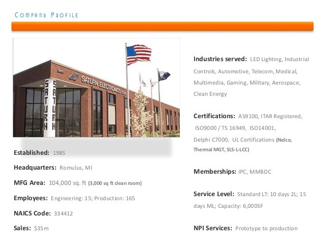 COMPANY PROFILE                                                    Industries served: LED Lighting, Industrial            ...